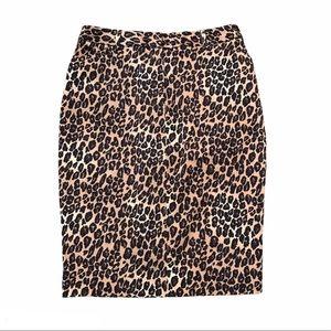 East 5th Animal Print Leopard Pencil Skirt